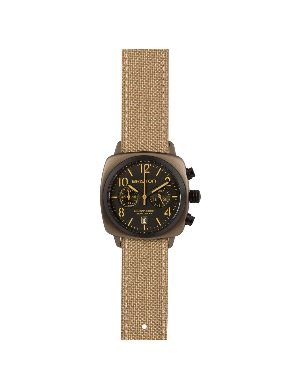 Briston Leather Canvas Strap Khaki PVD 20mm - MORE by Morello Indonesia