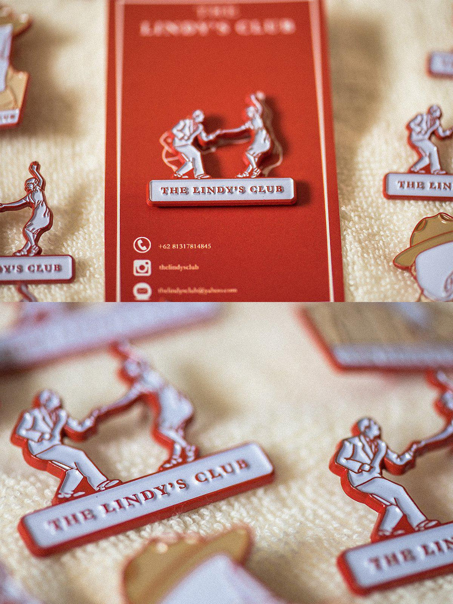 The Lindy's Club Lindance Enamel Pin