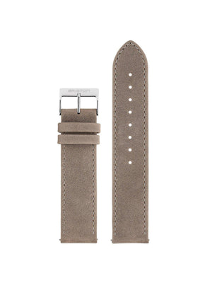 Briston 2-Part Vintage Leather Strap Taupe Polished Steel 20mm - MORE by Morello Indonesia