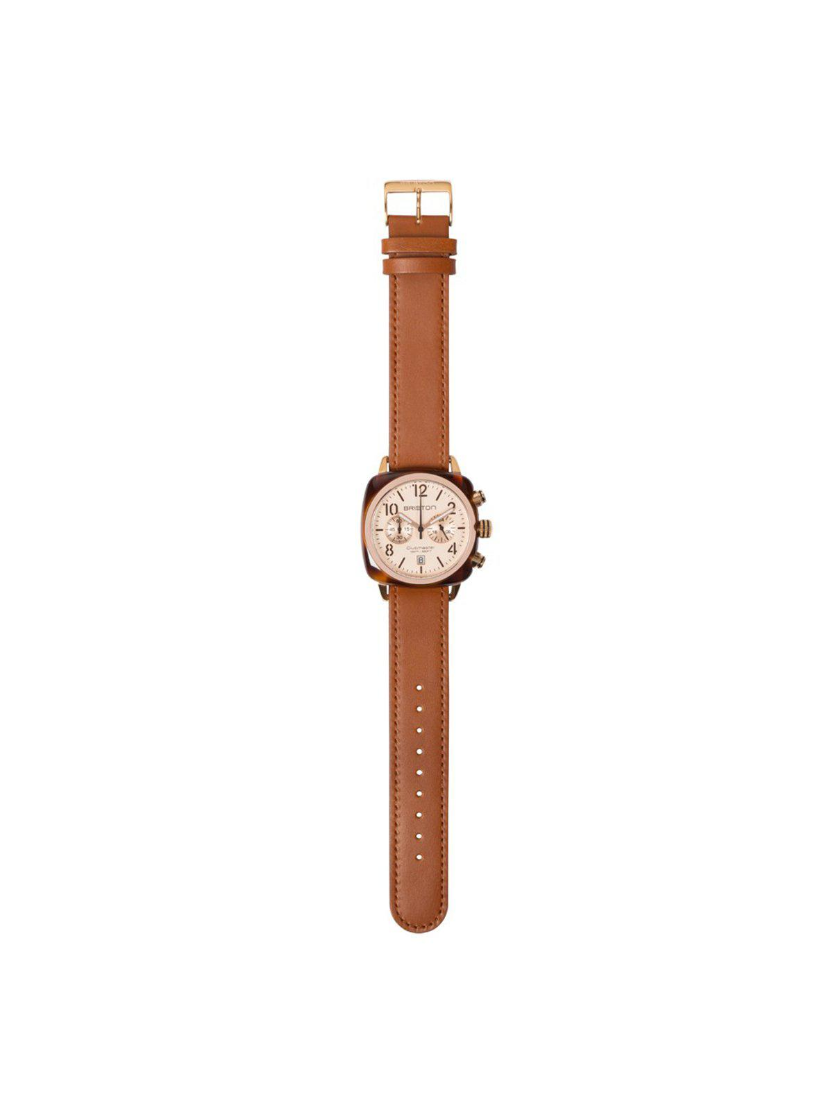 Briston Classic Leather Strap Brown Rose Gold 20mm - MORE by Morello Indonesia