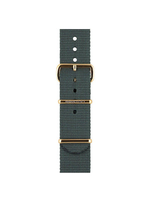 Briston Nato Strap Grey Yellow Gold 20mm - MORE by Morello Indonesia