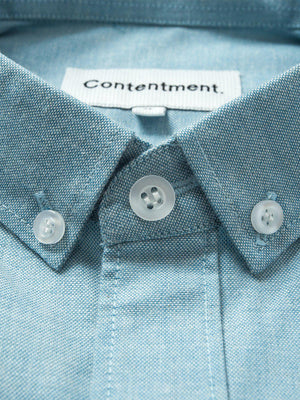 Contentment. Jetted Oxford Light Blue Shirt
