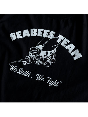 US Comp4ny Seabees Team Tees Black - MORE by Morello Indonesia