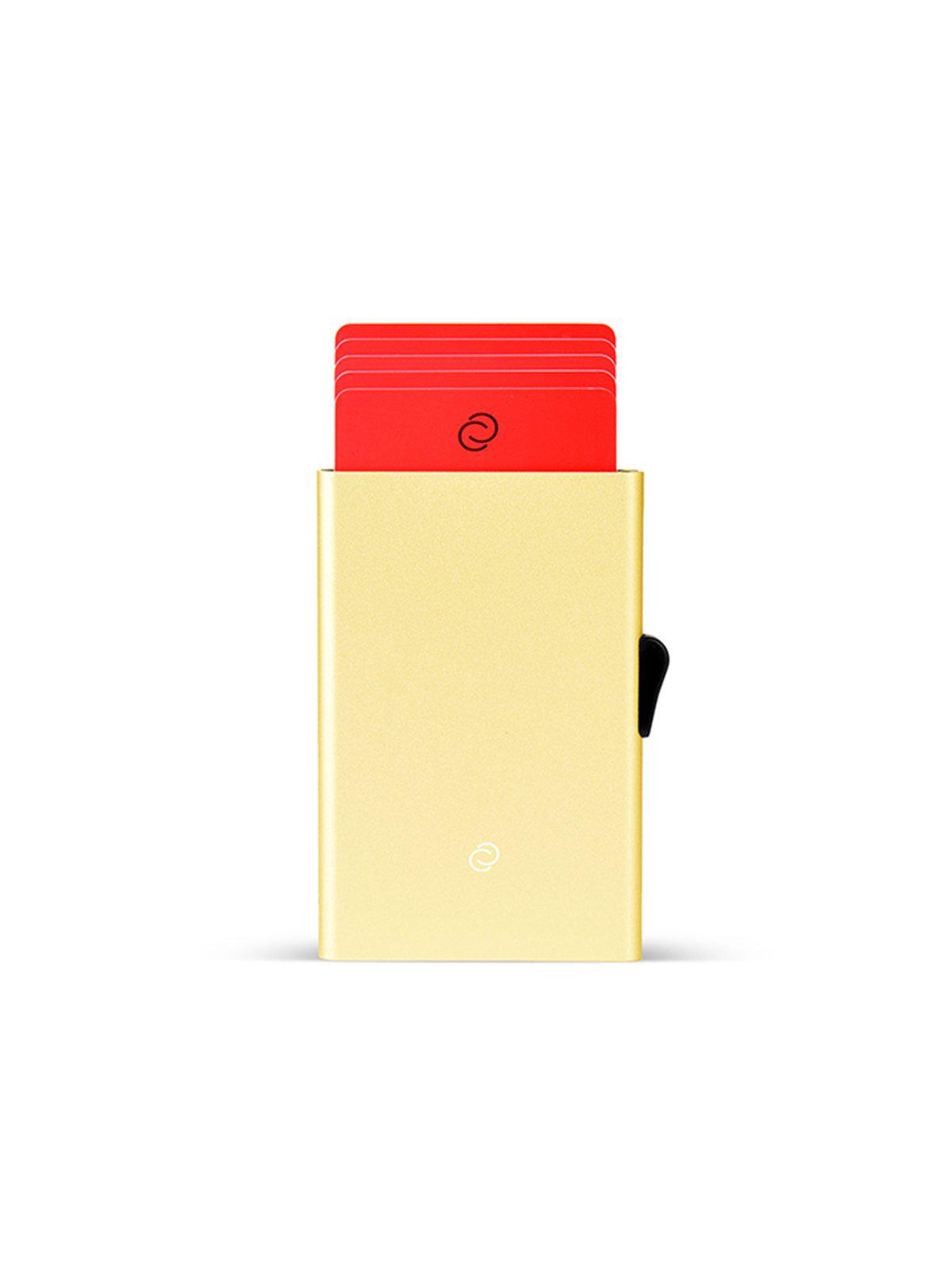 C-Secure Aluminium RFID Cardholder Champagne Gold - MORE by Morello Indonesia