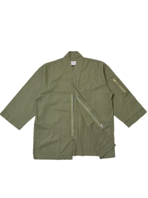 Jackhammer Ramie Tenchu Jacket Sage - MORE by Morello Indonesia