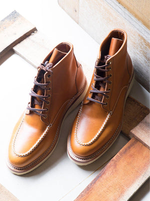 Santalum Mile 85 Moc Toe Boots Copper Tan Pull Up - MORE by Morello - Indonesia
