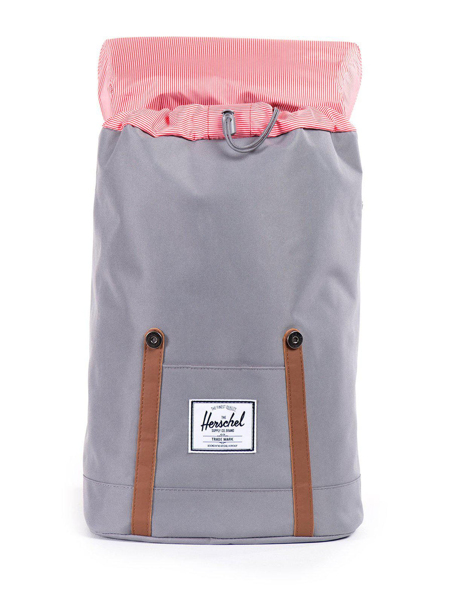 Herschel Retreat Backpack 600D Poly Grey Tan 19.5L - MORE by Morello - Indonesia