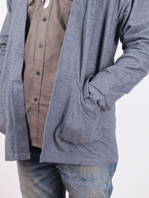 Qutn Throw On IV Charcoal Flannel - MORE by Morello Indonesia
