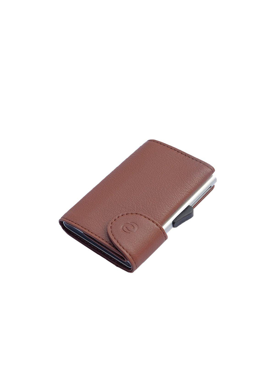 C-Secure Italian Leather RFID Wallet Bruciato - MORE by Morello - Indonesia