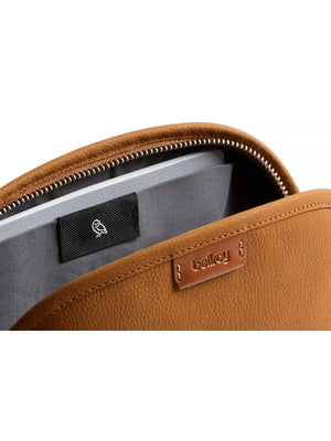 Bellroy Classic Pouch Leather Nubuck Tan - MORE by Morello Indonesia