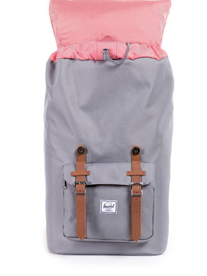 Herschel Little America Backpack 600D Poly Grey Tan 25L