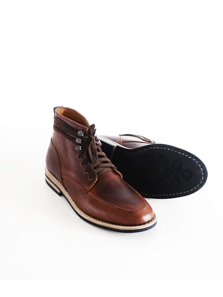 Chevalier Derby Moc Boots Brown Chromexcel
