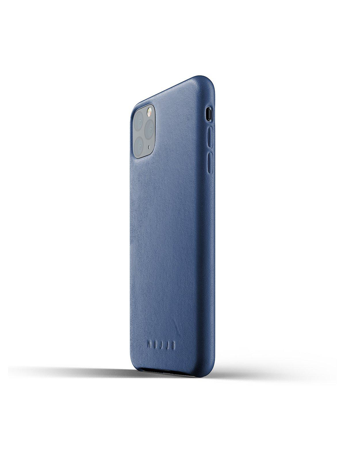 Mujjo Full Leather Case for iPhone 11 Pro Max Monaco Blue - MORE by Morello Indonesia
