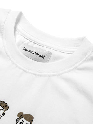 Contentment. Tranquil Monday Illustrated T-Shirt - MORE by Morello - Indonesia