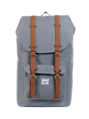 Herschel Little America Backpack 600D Poly Grey Tan 25L - MORE by Morello Indonesia