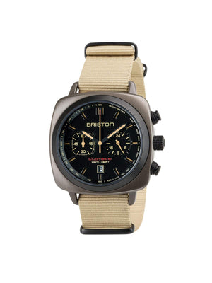 Briston Clubmaster Sport Steel Chronograph Khaki 42mm - MORE by Morello Indonesia