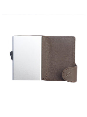 C-Secure Italian Leather RFID Wallet Castagno - MORE by Morello - Indonesia