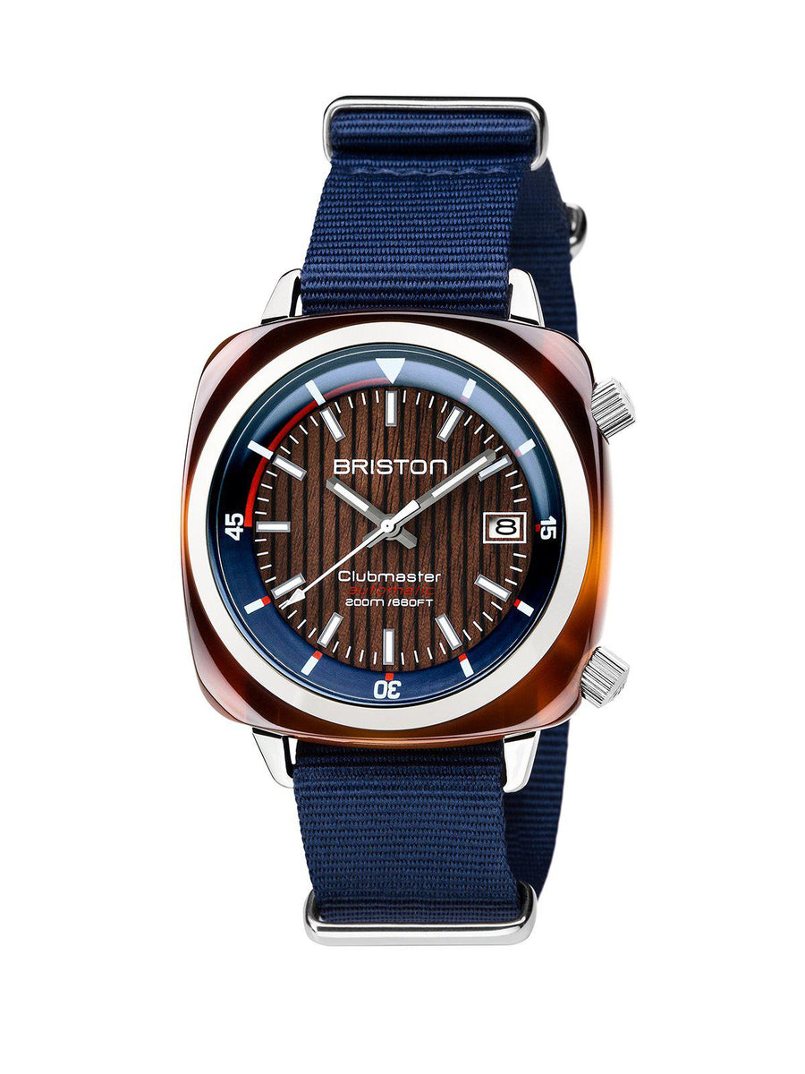Briston Clubmaster Diver Yachting Acetate Automatic HMS Navy Blue 42mm - MORE by Morello Indonesia