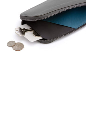 Bellroy All Conditions Phone Pocket Plus Leather Charcoal - MORE by Morello - Indonesia