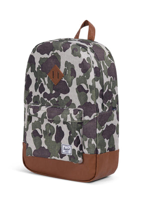 Herschel Heritage Backpack 600D Poly Frog Camo Tan 21.5L