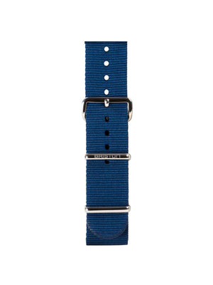 Briston Nato Strap Navy Blue Polished Steel 20mm - MORE by Morello Indonesia