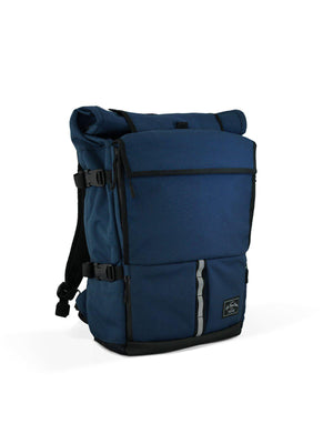 Life Behind Bars The Peloton Rolltop Backpack 30-42L Navy - MORE by Morello Indonesia