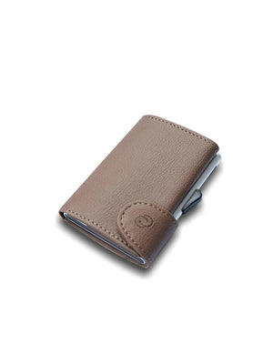 C-Secure PU Leather RFID Wallet Khaki Brown - MORE by Morello - Indonesia