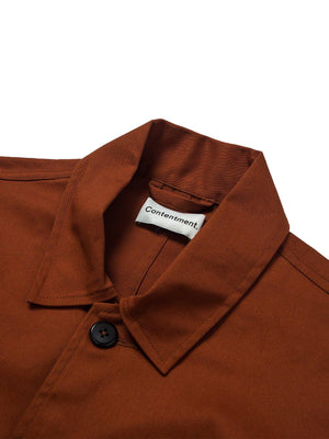 Contentment. Twill Terracotta Shacket