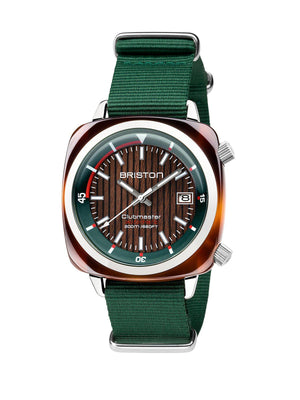 Briston Clubmaster Diver Yachting Acetate Automatic HMS British Green 42mm - MORE by Morello - Indonesia