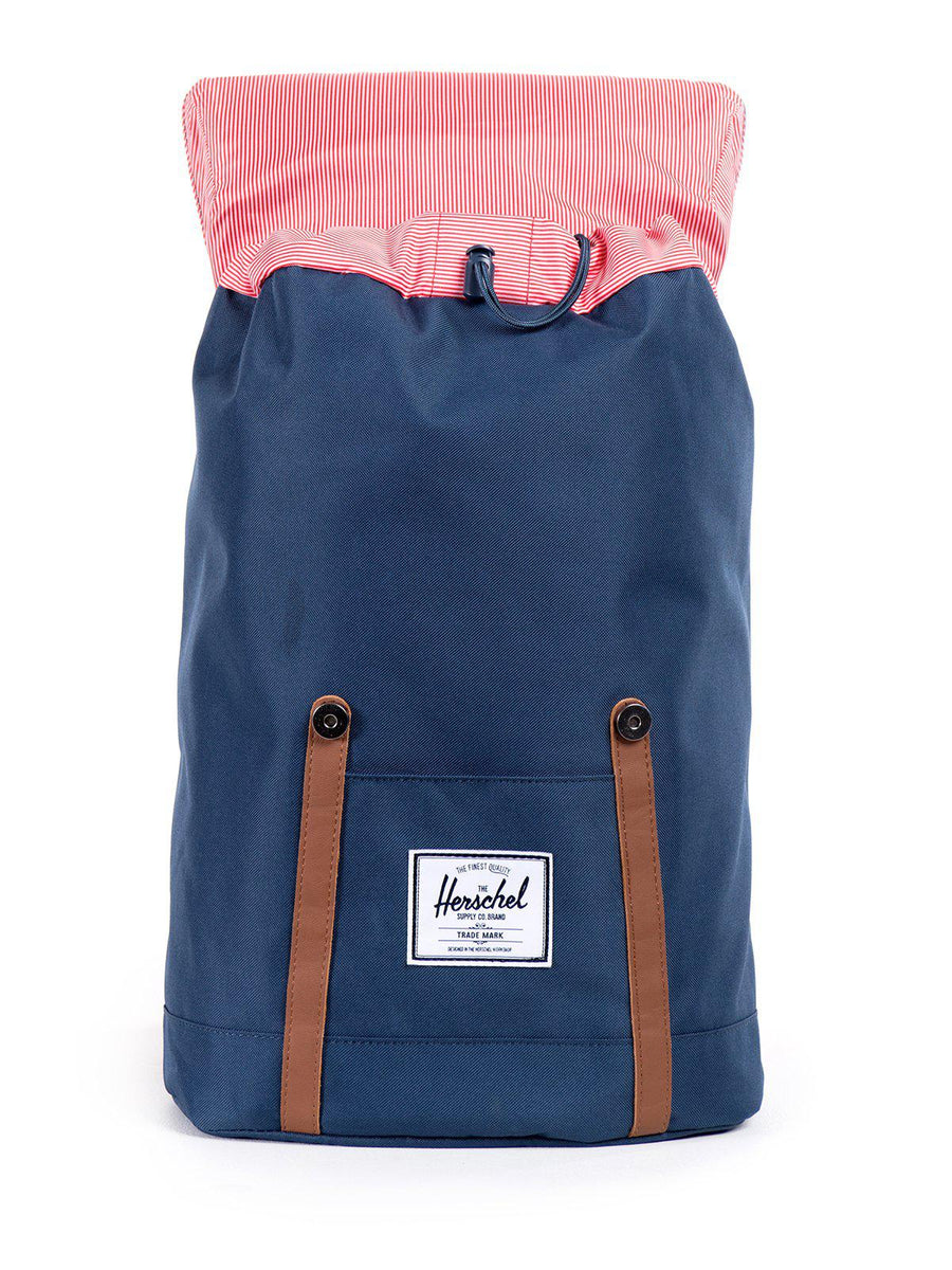 Herschel Retreat Backpack 600D Poly Navy Tan 19.5L