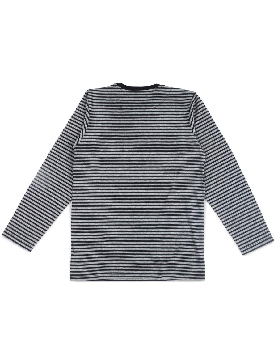 Jackhammer Beaver Striped Tee LS BG - MORE by Morello