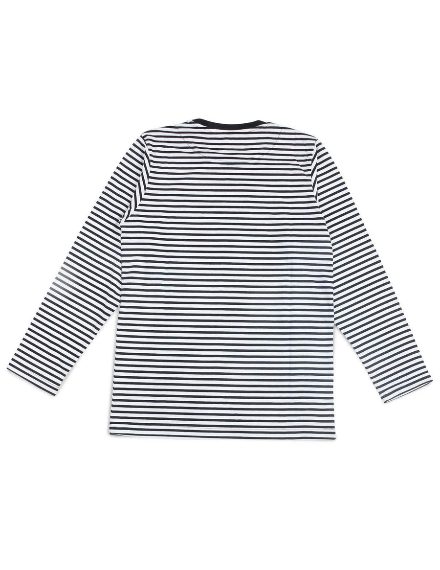 Jackhammer Beaver Striped Tee LS BW - MORE by Morello