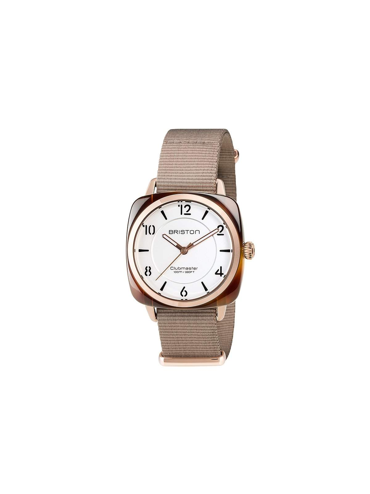 Briston Clubmaster Chic Acetate HMS Gold White Dial and Rose Gold 36mm -  MORE by Morello Indonesia