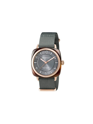 Briston Clubmaster Chic Acetate HMS Gold Grey Dial and Rose Gold 36mm-Watches-Briston-MORE by Morello