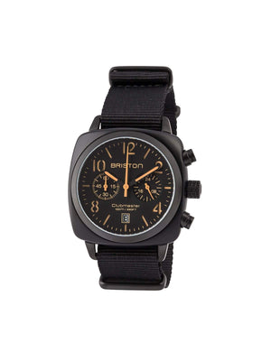Briston Clubmaster Classic Acetate Chronograph Black Matt PVD 40mm - MORE by Morello Indonesia