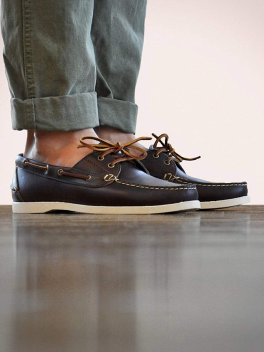 Oakstreet Bootmakers Brown Boat Shoe - MORE by Morello