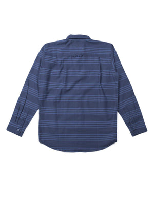 Qutn Button Down LS Blue Tri Stripe - MORE by Morello Indonesia