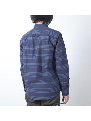 Qutn Button Down LS Blue Tri Stripe - MORE by Morello - Indonesia