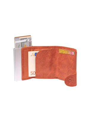 C-Secure Italian Leather RFID Wallet Cognac - MORE by Morello - Indonesia