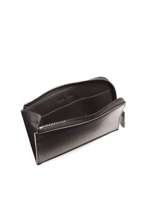 Common Projects Zip Around Pebbled Leather Wallet Black - MORE by Morello - Indonesia