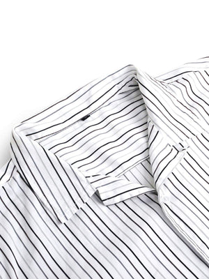 Jackhammer Charlie Shirt Striped White - MORE by Morello