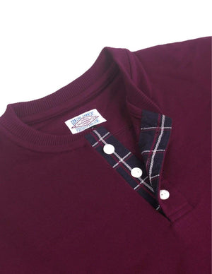 Jackhammer Chief Henley Shirt Garnet Maroon - MORE by Morello