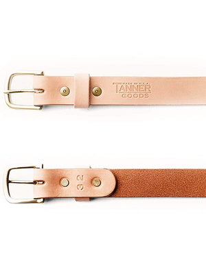 Tanner Goods Classic Belt Natural Brass-Belt-Tanner Goods-MORE by Morello