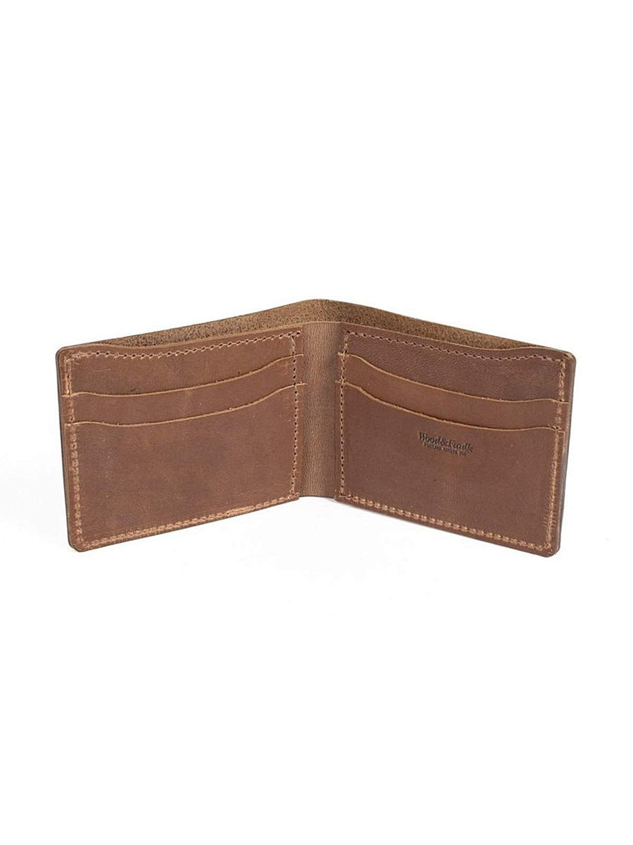 Wood&Faulk Classic Bifold Brown Chromexcel Wallet-Wallets-Wood&Faulk-MORE by Morello