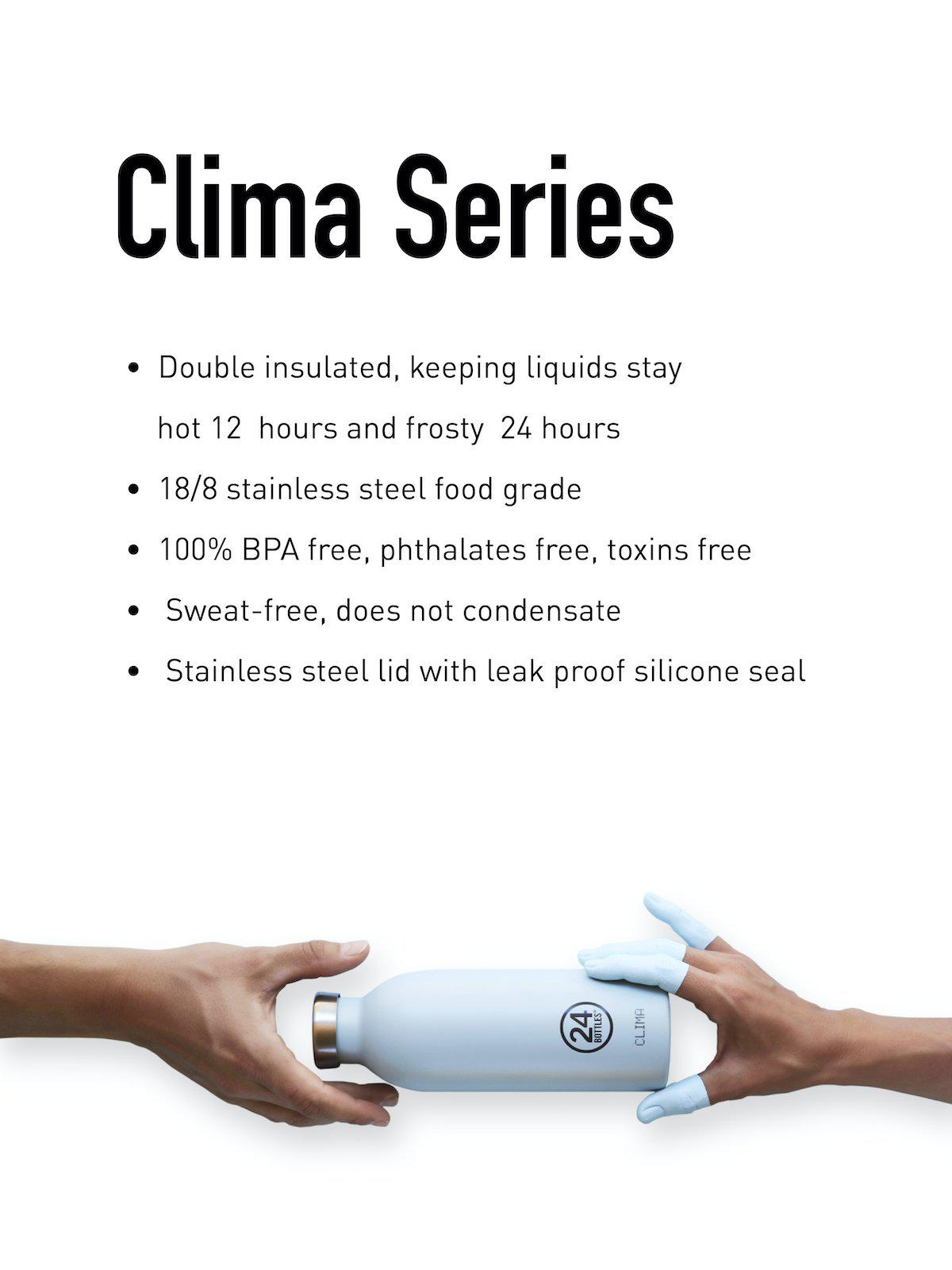 24Bottles Clima Bottle Steel 500ml - MORE by Morello Indonesia
