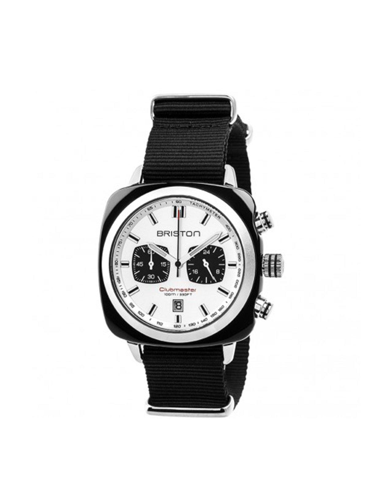 Briston Clubmaster Sport Acetate Chronograph Black With White Dial - MORE by Morello Indonesia