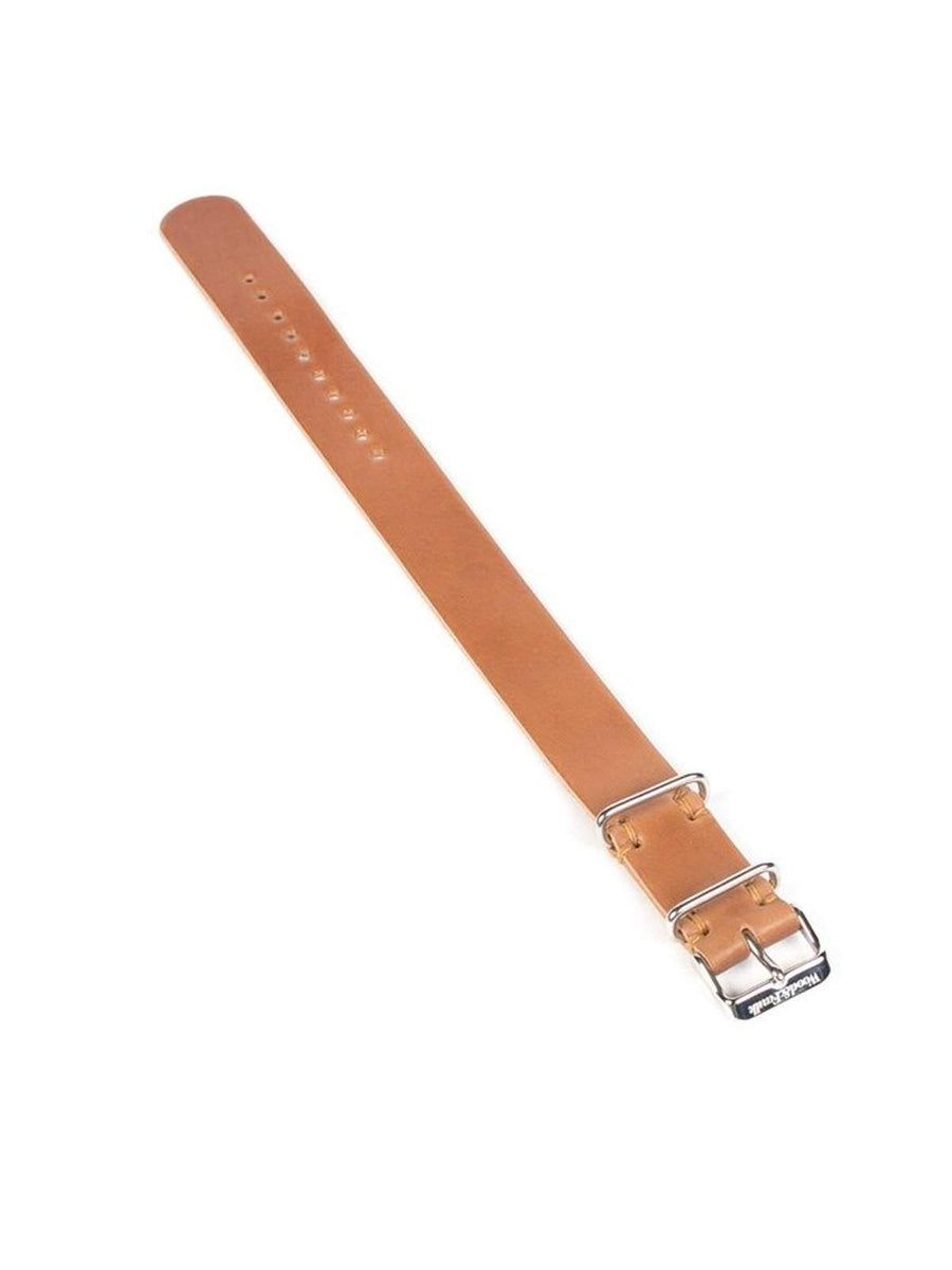 Wood&Faulk Cordovan Passthrough Watch Strap Natural 20mm-Watches-Wood&Faulk-MORE by Morello