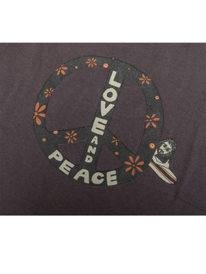 Free Rage Recycled Cotton Tee Love And Peace Grey - MORE by Morello Indonesia