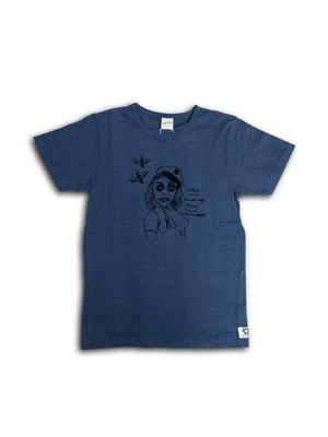 Free Rage Recycled Cotton Tee Money Navy - MORE by Morello Indonesia