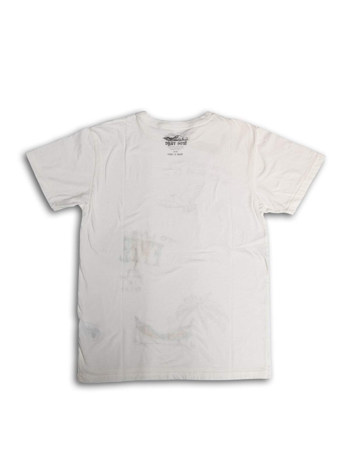 Free Rage Recycled Cotton Tee Hand Paint Live Free White - MORE by Morello Indonesia
